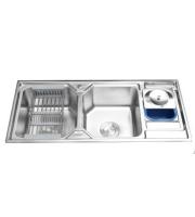 Chậu rửa bát Inox 304 2 hố cao cấp LI-11650A