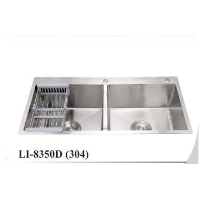 Chậu rửa chén inox 304 thân không sơn LI-8350D
