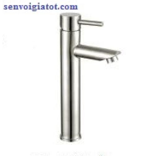 Vòi lavabo nóng lạnh cao 30cm inox 304 LI-5004
