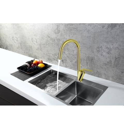 Vòi rửa chén nóng lạnh đồng nguyên chất LI-6868V
