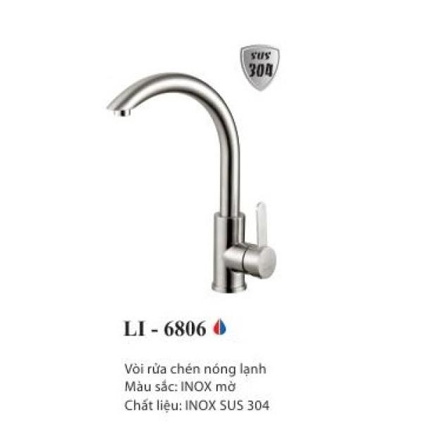Vòi rửa chén nóng lạnh inox 304 LI-6806