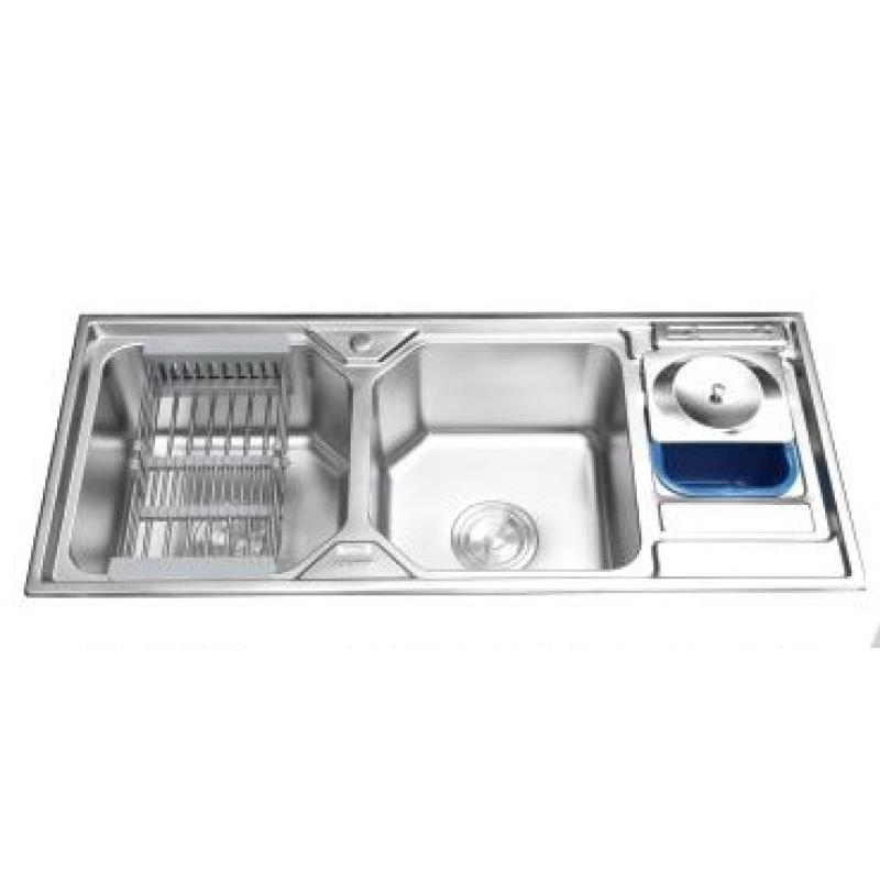 Chậu rửa bát Inox  2 hố cao cấp LI-11650A