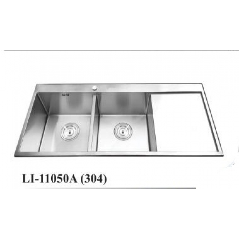 Chậu rửa chén inox cao cấp thân không sơn Li-11050A